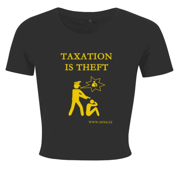 Tričko s potiskem Taxation Is Theft Logo (FB)